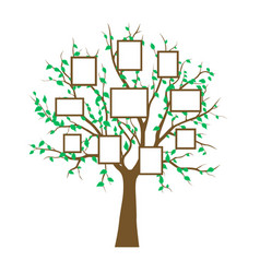 frame tree family vintage nature print vector image