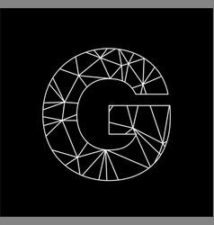 g geometric triangle block chain font vector image