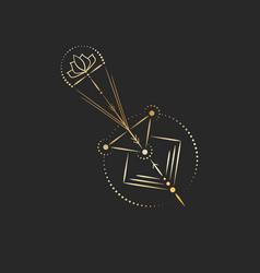 geometric tattoo design gold mystic arrow with vector image