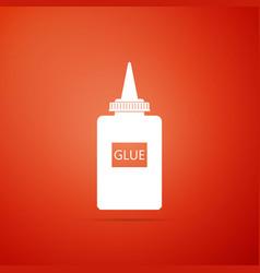 glue icon isolated on orange background vector image