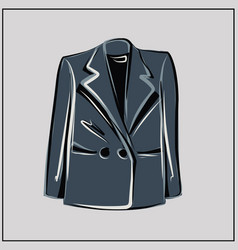 gray blazer oversize fashion basic wardrobe vector image