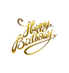 Greeting card for birthday with pattern of gold vector