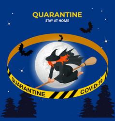 halloween is canceled quarantine 2020 ban vector image