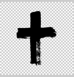 Hand drawn cross grunge cross cross made with vector