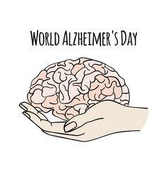 Health care world alzheimer day medicine il vector
