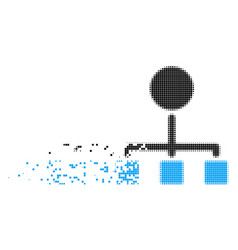 Hierarchy disappearing pixel icon vector
