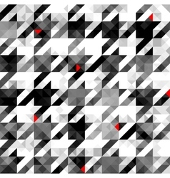 Houndstooth pattern on abstract geometric vector image