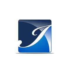 letter i logo design template vector image