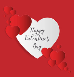 love and valentines day greeting card paper art vector image