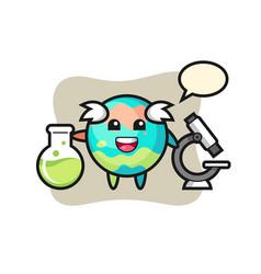 Mascot character bath bomb as a scientist vector