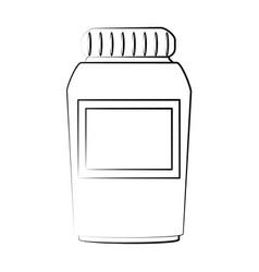 Medication pills flask icon image vector