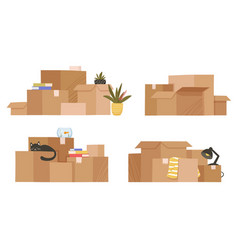 Moving and relocation concept vector