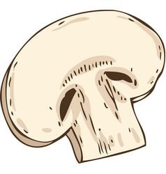 Mushroom slice vector