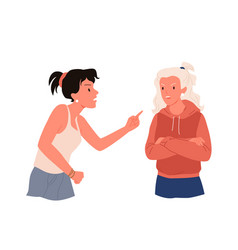 quarrel of two women people in stress vector image