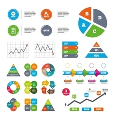 Quiz icons Checklist with check mark symbol vector
