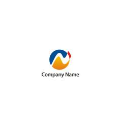 round abstract globe technology company logo vector image