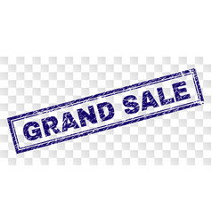 scratched grand sale rectangle stamp vector image