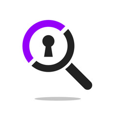 search icon on white vector image