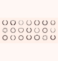 set different vintage wreaths vector image