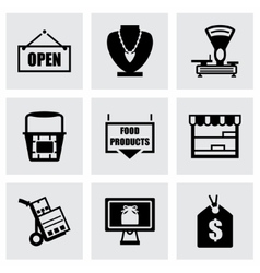 Shop icon set vector image