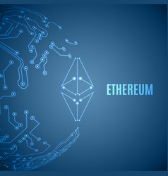 Stylized ethereum crypto currency sign vector