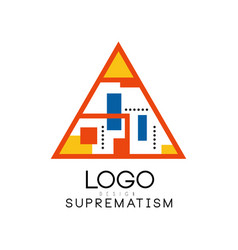 suprematism logo design abstract creative vector image