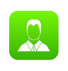 User icon digital green vector