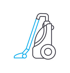 vacuum cleaning linear icon concept vacuum vector image