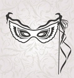 Venice Carnival or Theater Mask with Ribbons vector image vector image