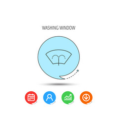 washing window icon windshield cleaning sign vector image