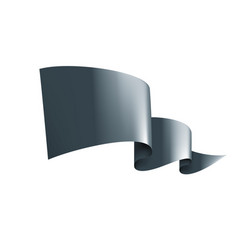 waving black flag on a white background vector image