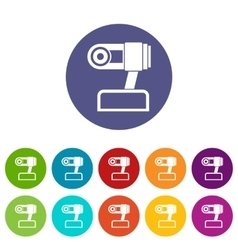 Webcam set icons vector