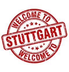 Welcome to stuttgart red round vintage stamp vector