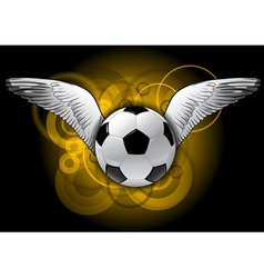 football with wings vector image