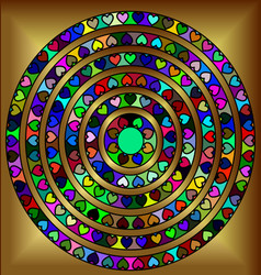 Golden abstract circles vector