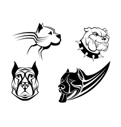 Guard powerful dogs set vector image