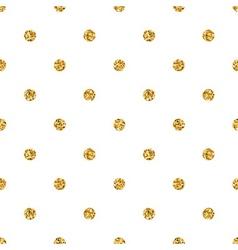 Polka dot small gold 1 white vector image
