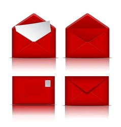 Set of Red envelopes vector image vector image