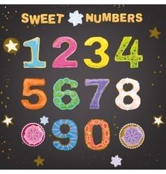 Sweet Handdrawn Numbers vector image
