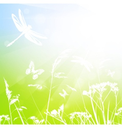 Abstract Summer Meadow vector image vector image