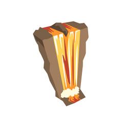 cartoon of high waterfall water vector image