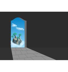 doorway vector image vector image