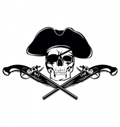 piracy skull vector image vector image