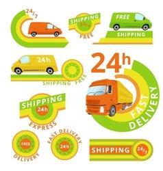 Delivery car set vector image