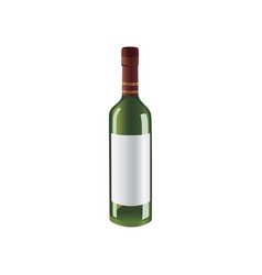 green bottle of wine with space for brand vector image