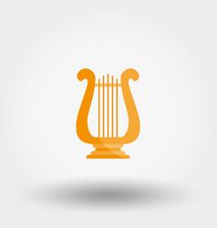 harp icon vector image