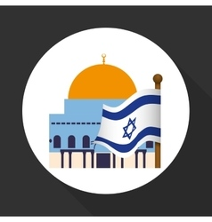 Israel design culture design isolated vector