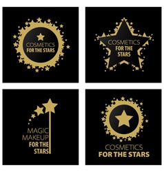 Logos magic makeup for the stars vector