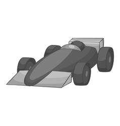 Race car icon black monochrome style vector image vector image