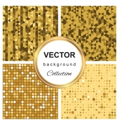 Triangle pattern mosaic background vector image
